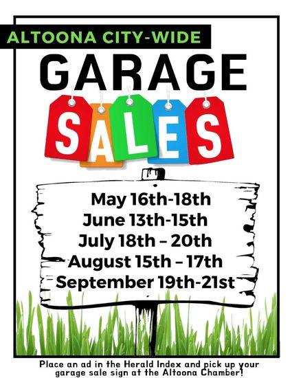 Altoona City-Wide Garage Sales | Altoona Area Chamber of Commerce