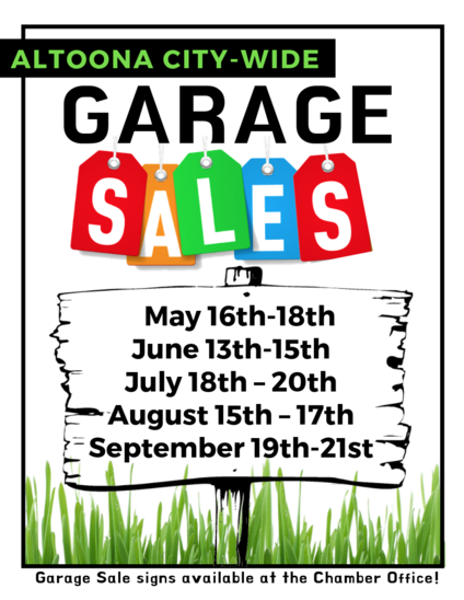 City Wide Garage Sales | Altoona Area Chamber of Commerce